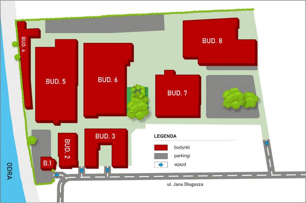 Plan terenu - Centrum Biznesu Długosza 2-6